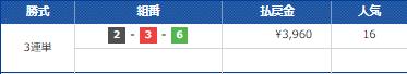 5月26日ボートレース蒲郡の第3レース結果